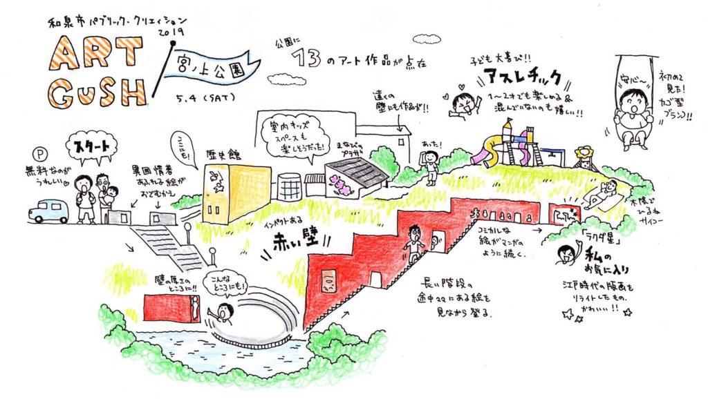 ART GUSH 宮ノ上公園マップ