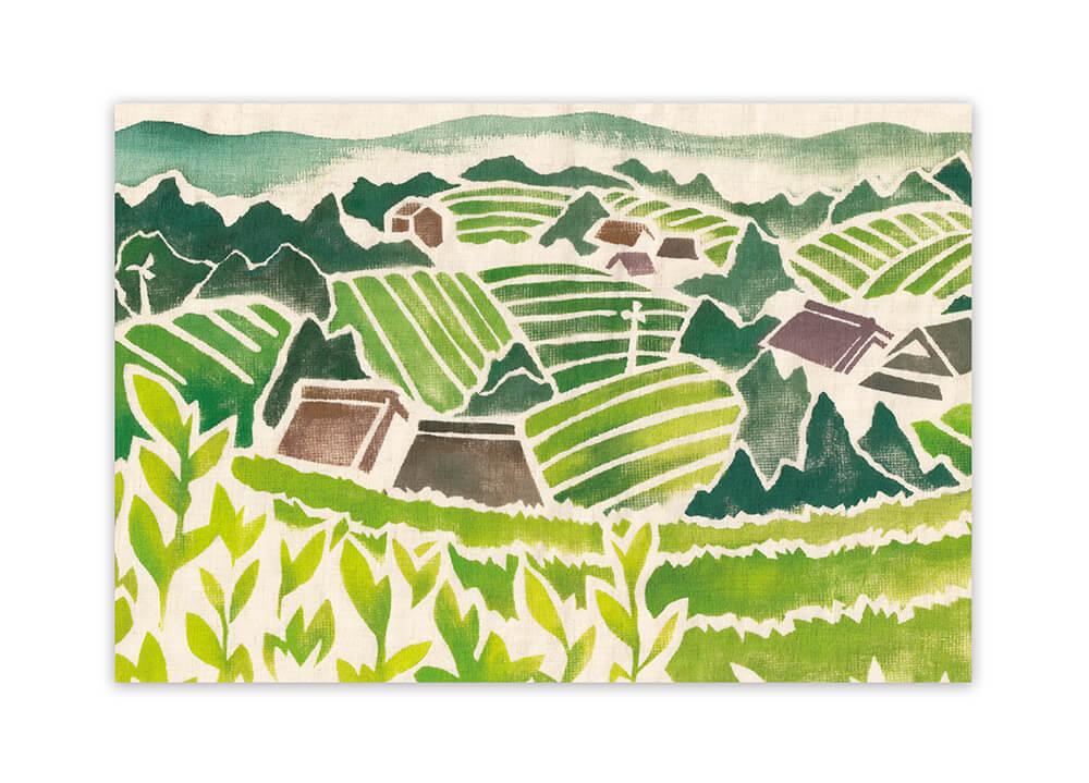 茶畑・イラスト・型染め・やさしい・ほのぼの