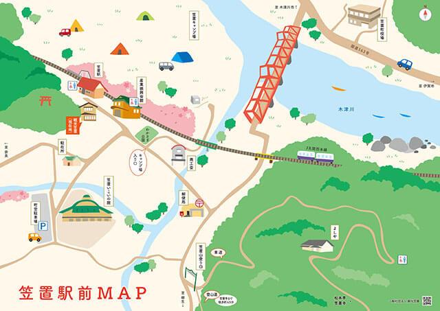 笠置駅前マップ