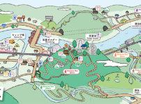 笠置町・イラストマップ・京都・田舎・ローカルデザイン